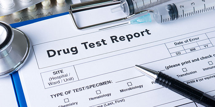 A drug test report form